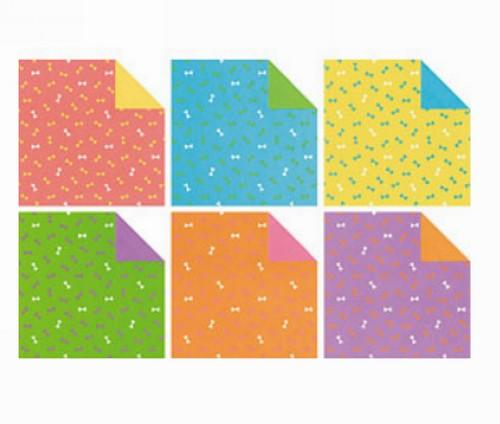 內頁放大:日本花紙(雙面):蝴蝶結(6色調36枚)(現貨數量:5)