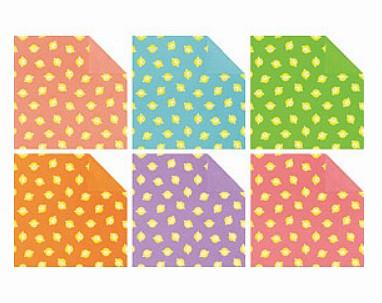 內頁放大:日本花紙(雙面):小綿羊(6色調36枚)(現貨數量>5)