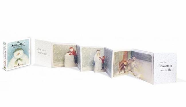 內頁放大:THE SNOWMAN A-PULL OUT POP-UP BOOK /雪人立體小書