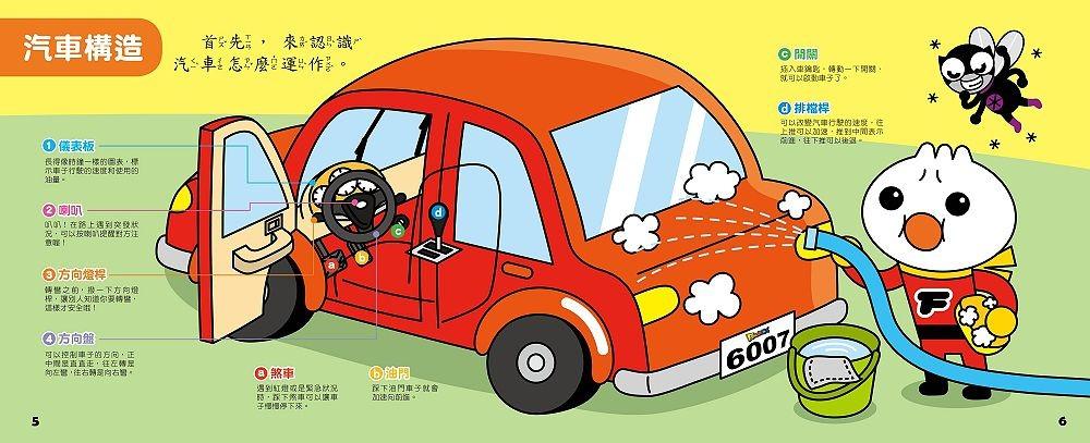 內頁放大:神奇小汽車有聲書 (FOOD超人)(85折)