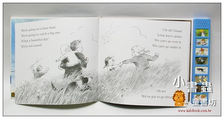 內頁放大:We,re Going On A Bear Hunt Sound Book (我們要去捉狗熊) (音效書)79折