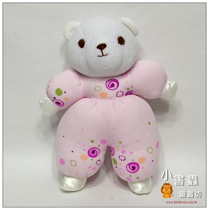 內頁放大:手工綿柔音樂布偶:粉紫熊寶寶 (台灣製造)現貨數量:1