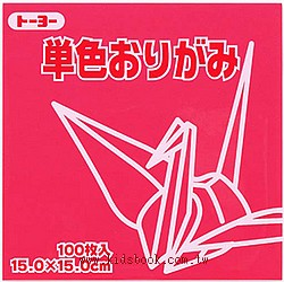 日本色紙─單色(紅粉)64126