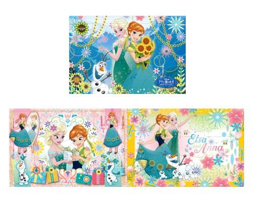 內頁放大:冰雪奇緣─姊妹篇(15.13.9pcs):階梯式日本幼兒拼圖