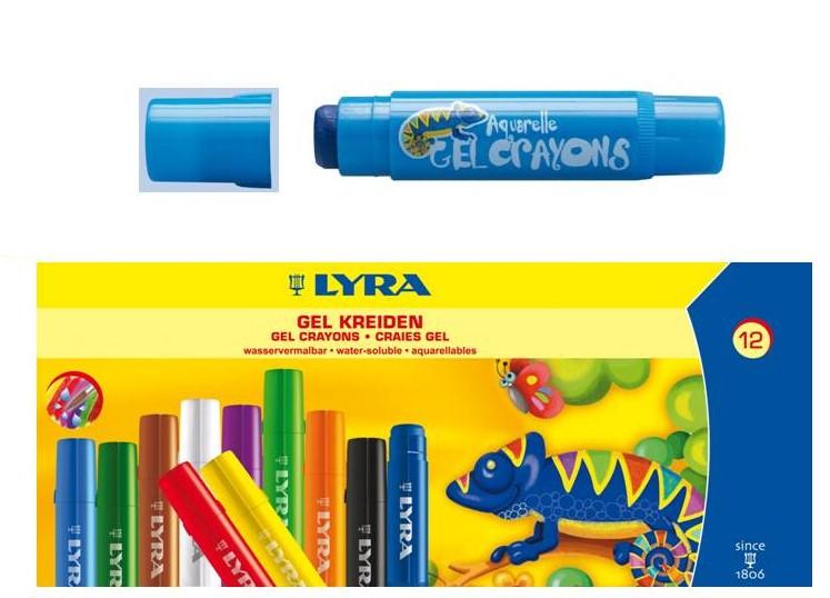 內頁放大:德國LYRA:水性膠蠟筆(12色)+形板組