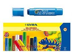 德國LYRA:水性膠蠟筆(12色)+形板組