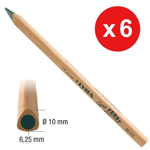 內頁放大:德國LYRA─粗三角原木鉛筆(長塗鴉筆)17.5cm(6入)