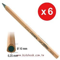 德國LYRA─粗三角原木鉛筆(長塗鴉筆)17.5cm(6入)