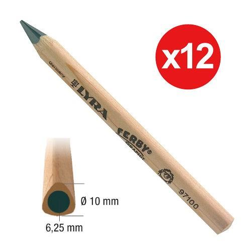 內頁放大:德國LYRA─粗三角原木鉛筆(短塗鴉筆)12cm(12入)