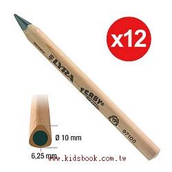 德國LYRA─粗三角原木鉛筆(短塗鴉筆)12cm(12入)