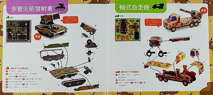 內頁放大:DIY立體勞作:雄壯威武的軍用車(79折)