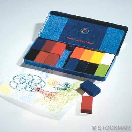內頁放大:德國STOCKMAR:史都曼透明蜜蠟磚─鐵盒16色