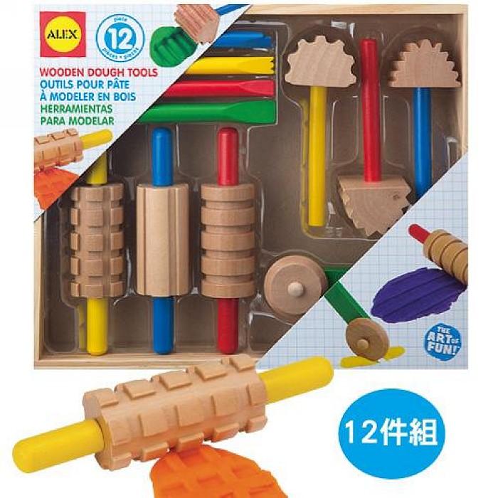 內頁放大:【美國ALEX】木質黏土工具組