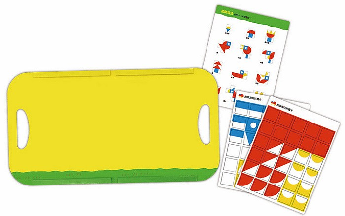 內頁放大:創意幾何拼圖-磁貼遊戲書 (85折)