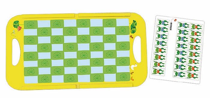 內頁放大:青蛙跳棋-磁貼遊戲書(85折)