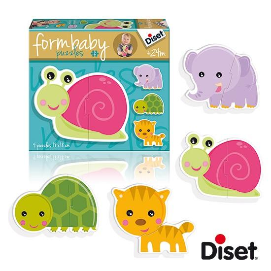 內頁放大:西班牙寶寶拼圖–2片軋型大拼圖組(大象、老虎、烏龜、蝸牛)(特價)