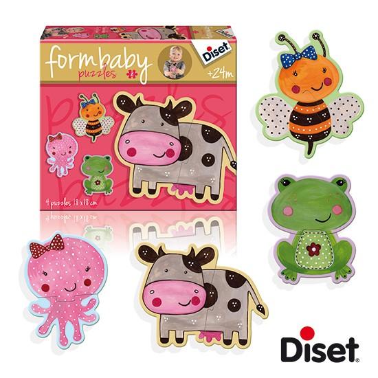 內頁放大:西班牙寶寶拼圖–2片軋型大拼圖組(乳牛、蜜蜂、青蛙、烏龜)(特價)