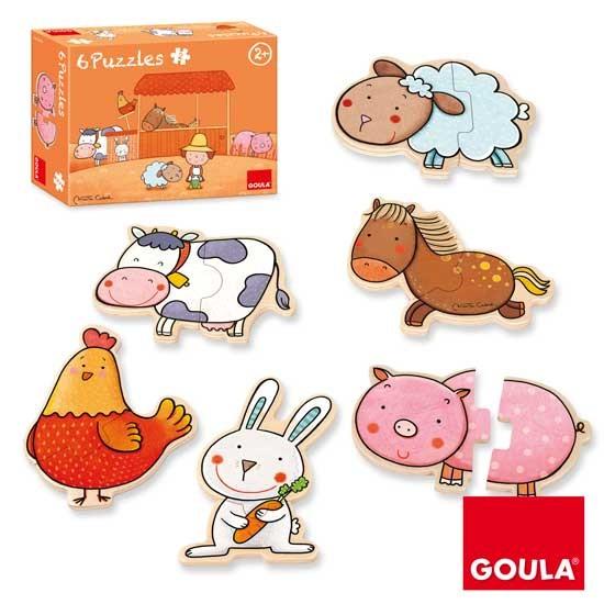 內頁放大:西班牙寶寶拼圖–木製農場動物2片拼圖(特價 )