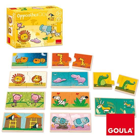 內頁放大:西班牙寶寶拼圖–趣味相反概念配對組(2片共10組)木製(9折)