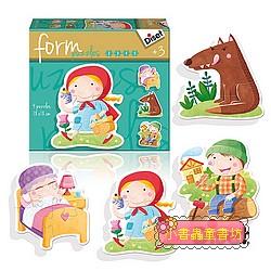 西班牙寶寶漸進式拼圖–小紅帽(2.3.4.5pcs)童話故事系列