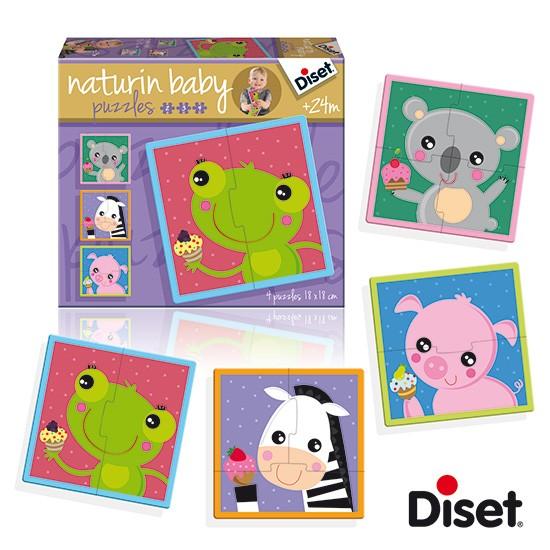 內頁放大:西班牙寶寶漸進式拼圖─可愛動物與甜點(2.3.4pcs)(特價)