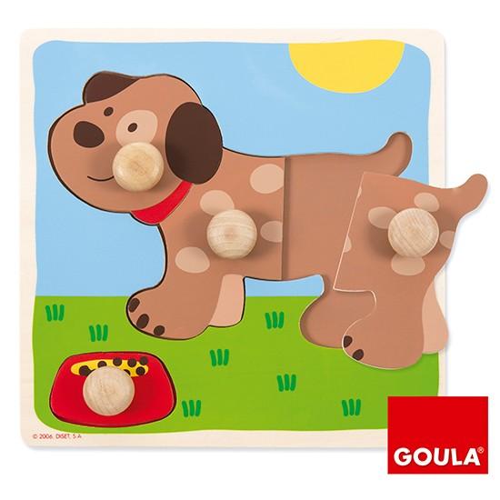 內頁放大:西班牙寶寶握鈕拼圖─小狗(4片組合)