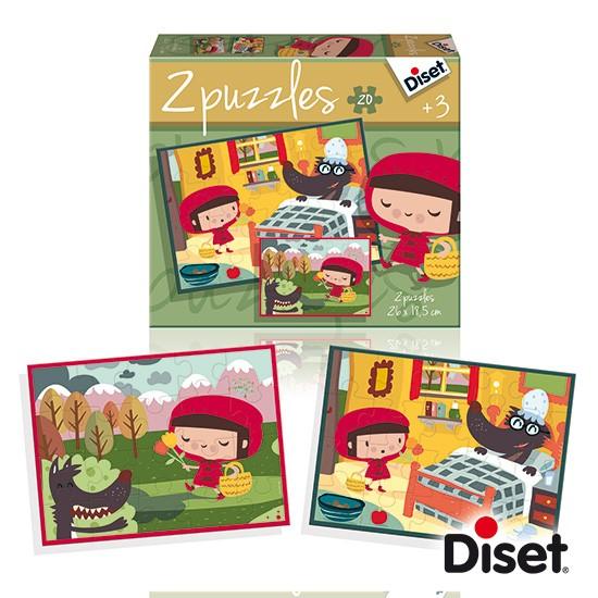 內頁放大:童話故事拼圖:小紅帽(20pcs*2)