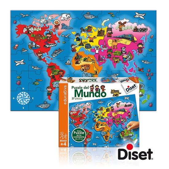 內頁放大:西班牙幼兒拼圖:世界地圖(37pcs)