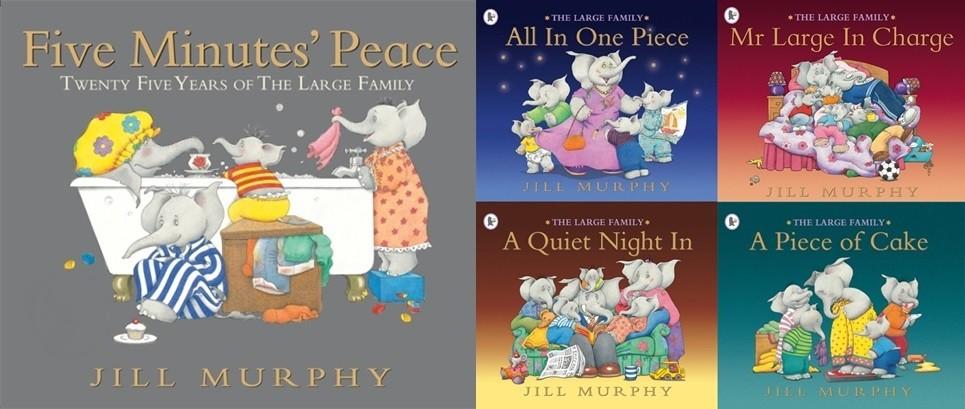 內頁放大:The Large Family Collection 大象家族(讓我安靜五分鐘)(5書+CD)(特價78折)