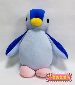 手工綿柔音樂布偶:胖胖企鵝(淺藍、藍、粉)(台灣製造)
