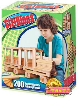 【美國CitiBlocs】骨牌創意積木-原色200