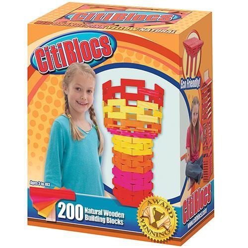 內頁放大:【美國CitiBlocs】骨牌創意積木-橘彩200