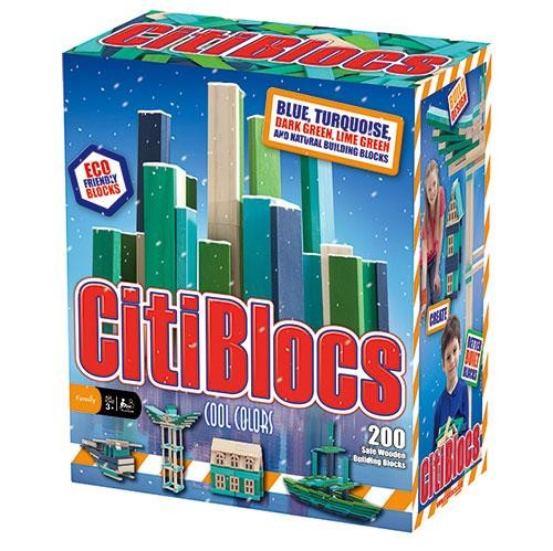 內頁放大:【美國CitiBlocs】骨牌創意積木-藍綠200