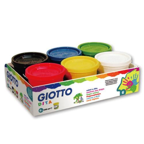 內頁放大:【義大利GIOTTO】幼兒安全手指膏(6色)200ml